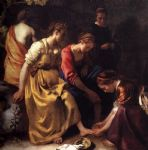 johannes vermeer acrylic paintings - diana and her companions by johannes vermeer