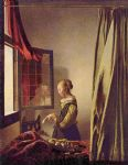 johannes vermeer art - girl reading a letter at an open window by johannes vermeer