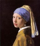 johannes vermeer art - girl with a pearl earring iii by johannes vermeer