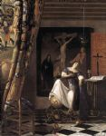 johannes vermeer acrylic paintings - the allegory of the faith by johannes vermeer
