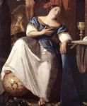 johannes vermeer acrylic paintings - the allegory of the faith detail by johannes vermeer