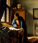johannes vermeer art - the geographer by johannes vermeer