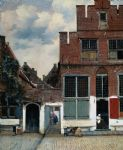 johannes vermeer watercolor paintings - the little street by johannes vermeer