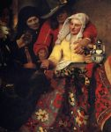 johannes vermeer acrylic paintings - the procuress by johannes vermeer