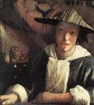 johannes vermeer young girl with a flute painting