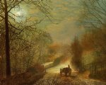 car watercolor paintings - forge valley near scarborough by john atkinson grimshaw