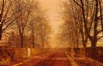 golden light by john atkinson grimshaw watercolor paintings