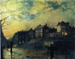 hampstead by john atkinson grimshaw painting