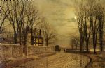the turn of the road by john atkinson grimshaw posters