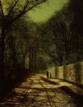 john atkinson grimshaw tree shadows on the park wall roundhay park leeds painting 31090