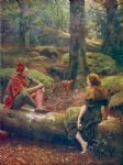 john collier famous paintings - in the forest of arden by john collier