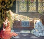 john collier famous paintings - sleeping beauty by john collier