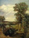 john constable art - dedham vale of 1802 by john constable