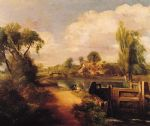 landscape with boys fishing by john constable painting