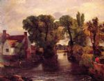 mill stream by john constable painting