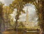 john constable acrylic paintings - salisbury cathedral by john constable