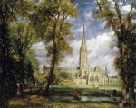 john constable art - salisbury cathedral from the bishop s garden by john constable