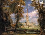 salisbury cathedral from the bishops grounds by john constable paintings