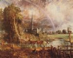 john constable acrylic paintings - salisbury cathedral from the meadows by john constable
