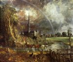 john constable art - salisbury cathedral from the meadows by john constable
