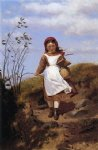 john george brown art - a breezy morning by john george brown