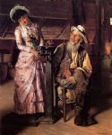 john george brown art - a new weight by john george brown