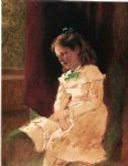 john george brown art - a young girl by the window by john george brown