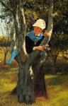 john george brown art - among the trees by john george brown