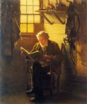 john george brown art - an idle hour by john george brown