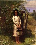 john george brown art - blackberry picking by john george brown