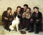 john george brown acrylic paintings - in good hands by john george brown