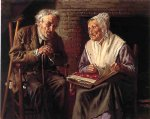 john george brown acrylic paintings - old memories by john george brown