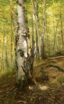 john george brown silver birches painting
