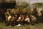john george brown acrylic paintings - the longshoremen s noon by john george brown