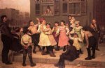 john george brown the sidewalk dance painting-31042