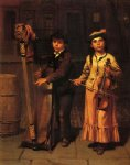 music art - the two musicians by john george brown