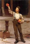 the young apple salesman by john george brown painting