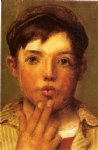 urchin head of boy by john george brown posters