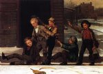 sports famous paintings - winter sports in the gutter by john george brown