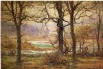 john ottis adams art - autumn on the whitewater by john ottis adams
