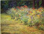 john ottis adams art - flower border by john ottis adams