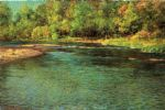 john ottis adams art - iredescence of a shallow stream by john ottis adams