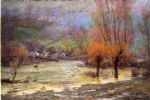 john ottis adams art - november freshet by john ottis adams