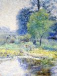 john ottis adams famous paintings - spring landscape 1895 by john ottis adams