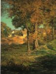 john ottis adams famous paintings - thornberry s pasture brooklyn indiana by john ottis adams