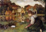 john roddam spencer stanhope the white rabbit painting