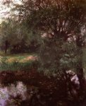 john singer sargent art - a backwater at wargrave by john singer sargent