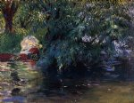 john singer sargent art - a backwater calcot mill near reading by john singer sargent