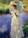 john singer sargent art - a morning walk by john singer sargent