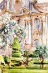 john singer sargent art - a palace and gardens spain by john singer sargent